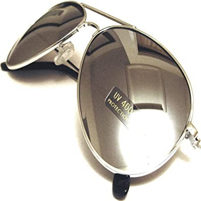 e02f4f343 Silver Mirrored Aviator Sunglasses with Fully Reflective Lenses Mens and Womens  Fashion: Amazon.co.uk: Shoes & Bags