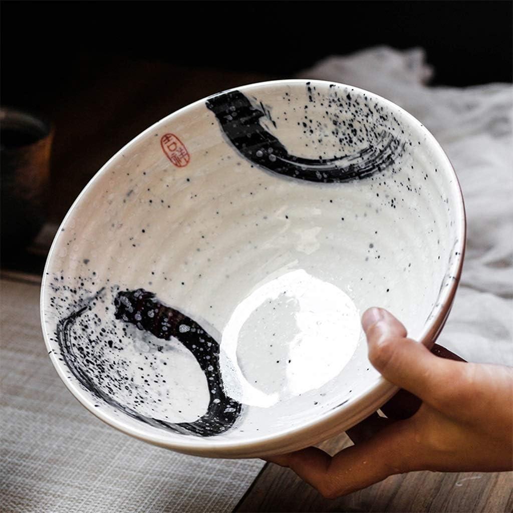 Xiao-bowl3 Style japonais en c/éramique vaisselle bol nouilles instantan/ées grand bol de soupe miso ramen bol h/ôtel restaurant /à la maison 7,5 pouces