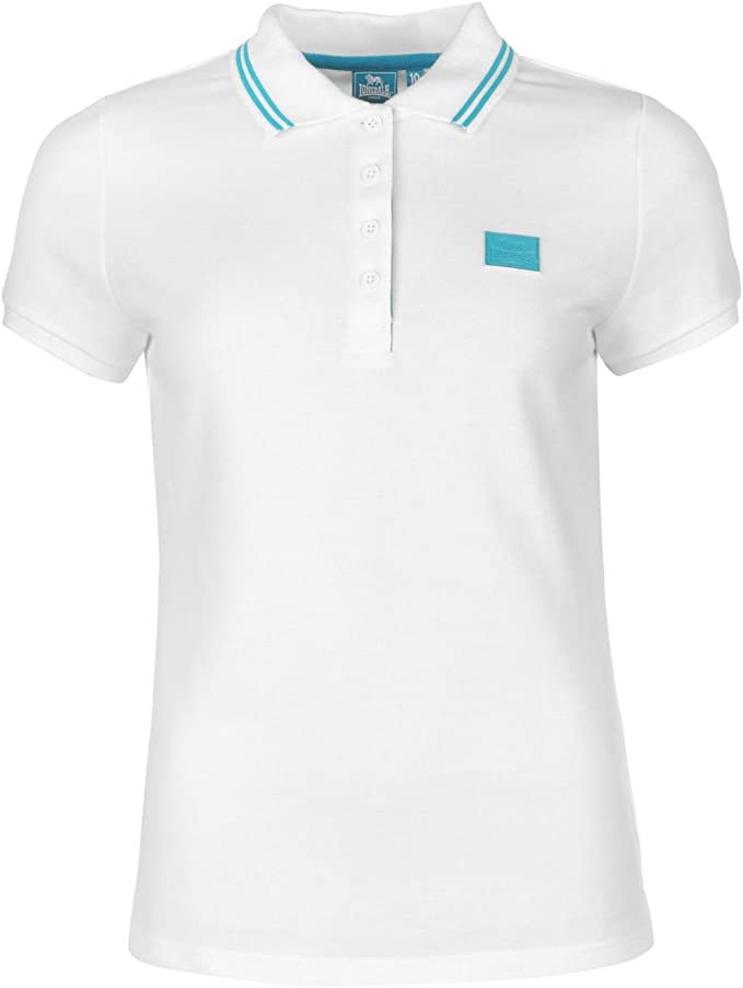 Lonsdale Mujer Lion Polo Camisa Señoras Camiseta Deporte Ropa ...