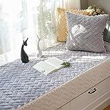 Thick Plush Sofa slipcovers Bay window cushion Cover seats sill pad Simple non-slip mat tatami-A 70x180cm(28x71inch)