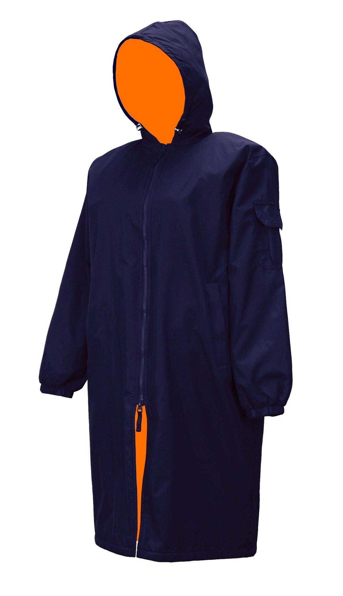 Adoretex Unisex Swim Parka (PK005C) - Navy/Orange - Youth-M