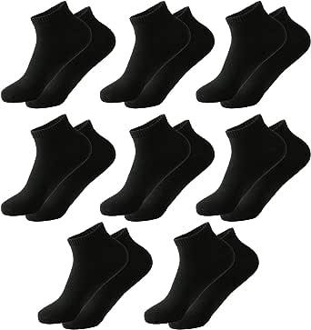 MOCOCITO Calcetines Cortos Hombre Mujer, Calcetines Tobilleros Negros de algodón, 8 Pares de Medias Deportivas Transpirables y Antideslizantes[39-43]: Amazon.es: Ropa y accesorios