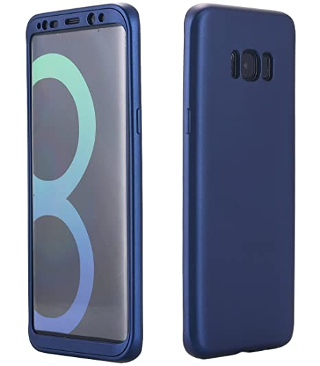 online store 8b1dc 42acb Galaxy S8 Plus Case, 360 Degree All-Around Full Body Slim Fit Lightweight  Soft TPU Protective Skin Case Cover for Samsung Galaxy S8 Plus (Navy Blue)