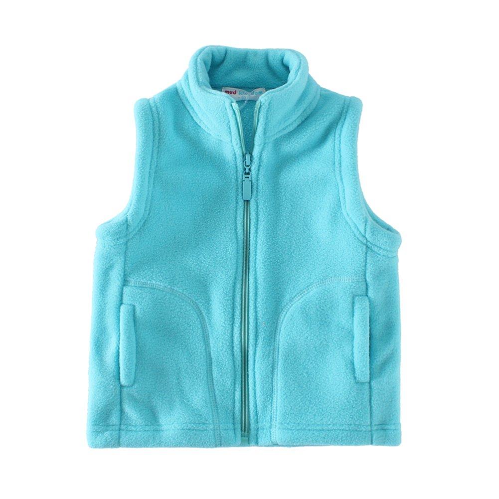 UWESPRING Little Boys Vests Autumn Summer Fleece Solid Pocket Size 7 Sky Blue by UWESPRING