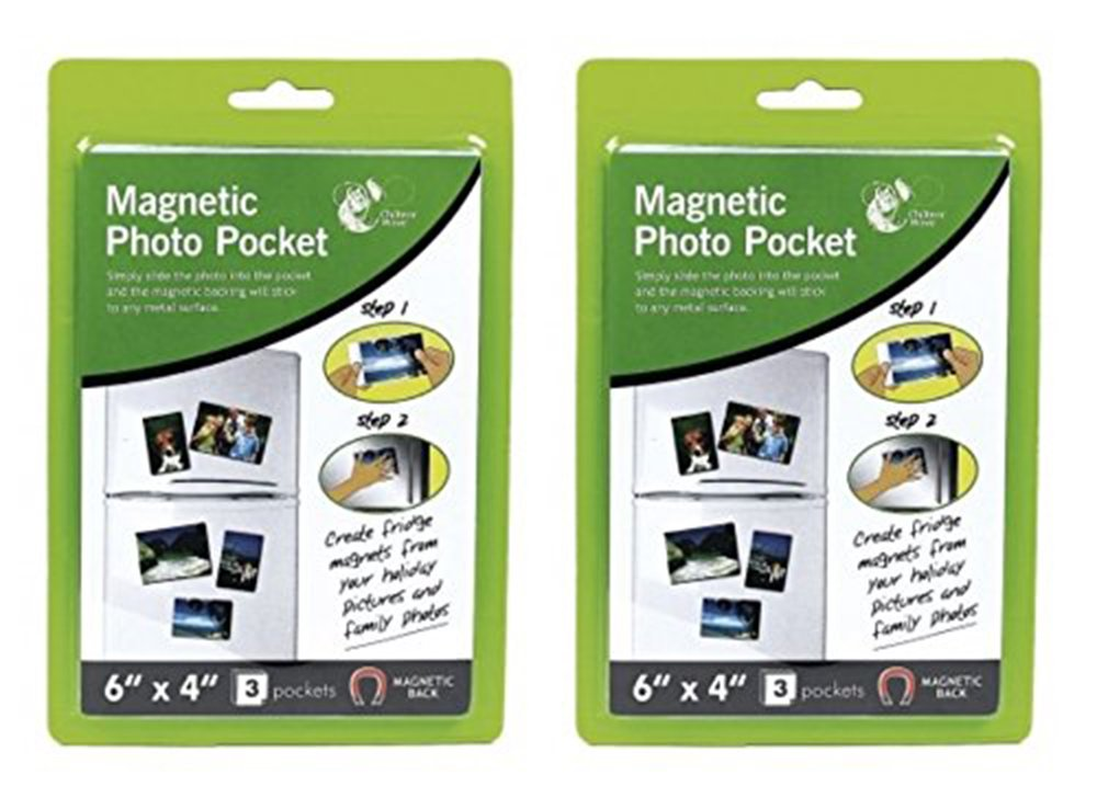 Amazon.de: 2 x Packungen von 15, 2 x 10, 2 cm Magnet Foto Pocket ...