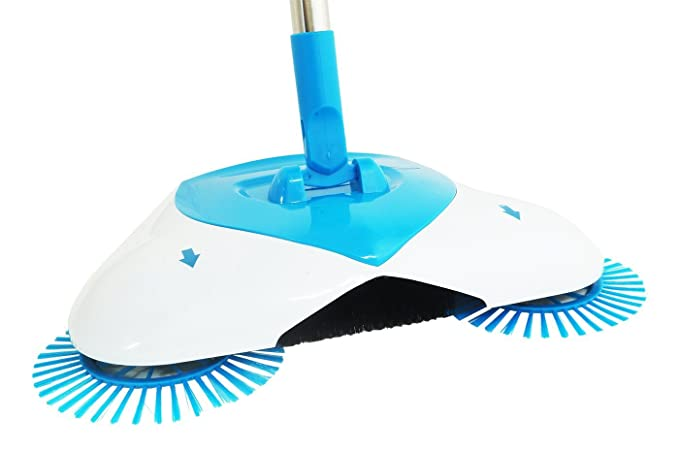 Birud Brooms Sweeper Steel Multifunction 360 Degree Rotating Sweeper Hand Push Vacuum Floor Cleaner Automatic DustpanAutomatic Hand Push Sweeper
