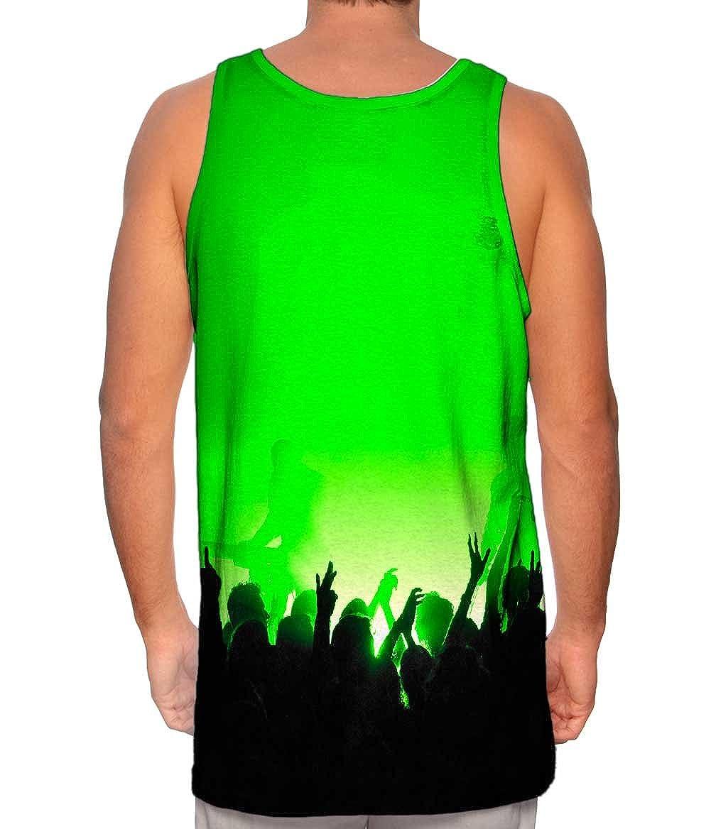 Tshirt Yizzam Mens Tank Top EDM Music Makes The Crowd