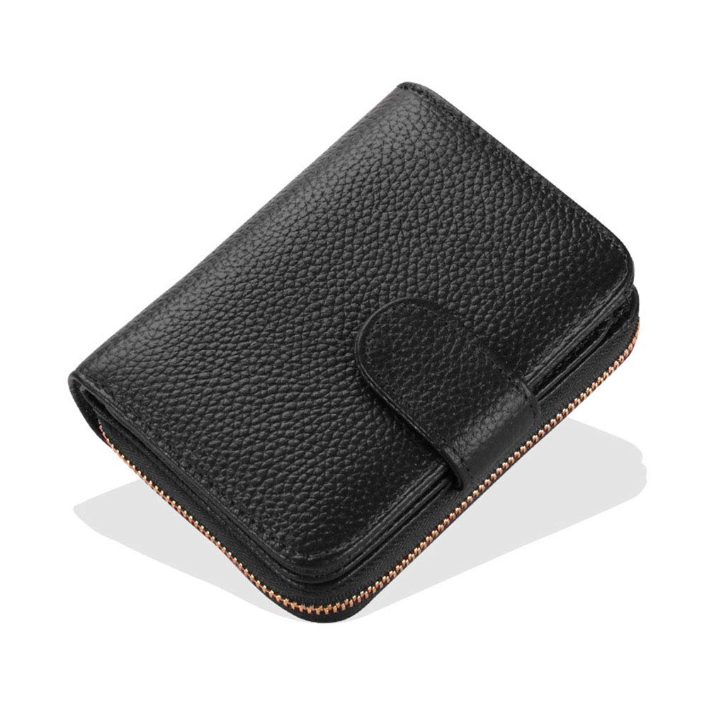 Portefeuille en Cuir pour Femmes , Paquet de Cartes Multi-Fonctions Courtes (Couleur : B, Taille : 11.5cm*9cm*2.5cm)