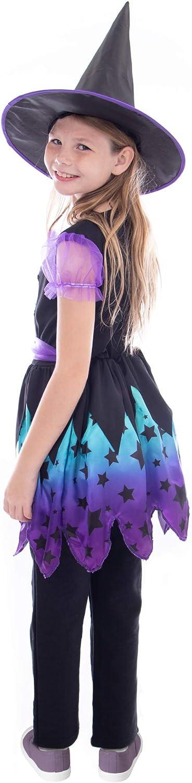 Enchanting Witch Children/'s Halloween Costume Dark Magic Girl Dress