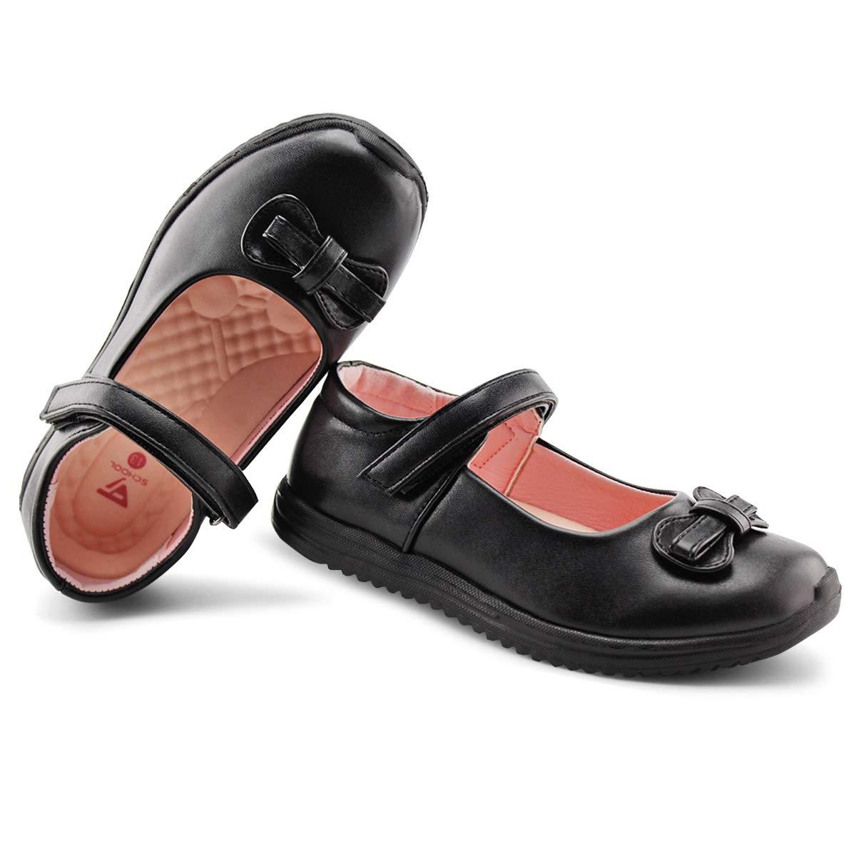 3,Black JABASIC Girls School Dress Shoes Mary Jane Flats