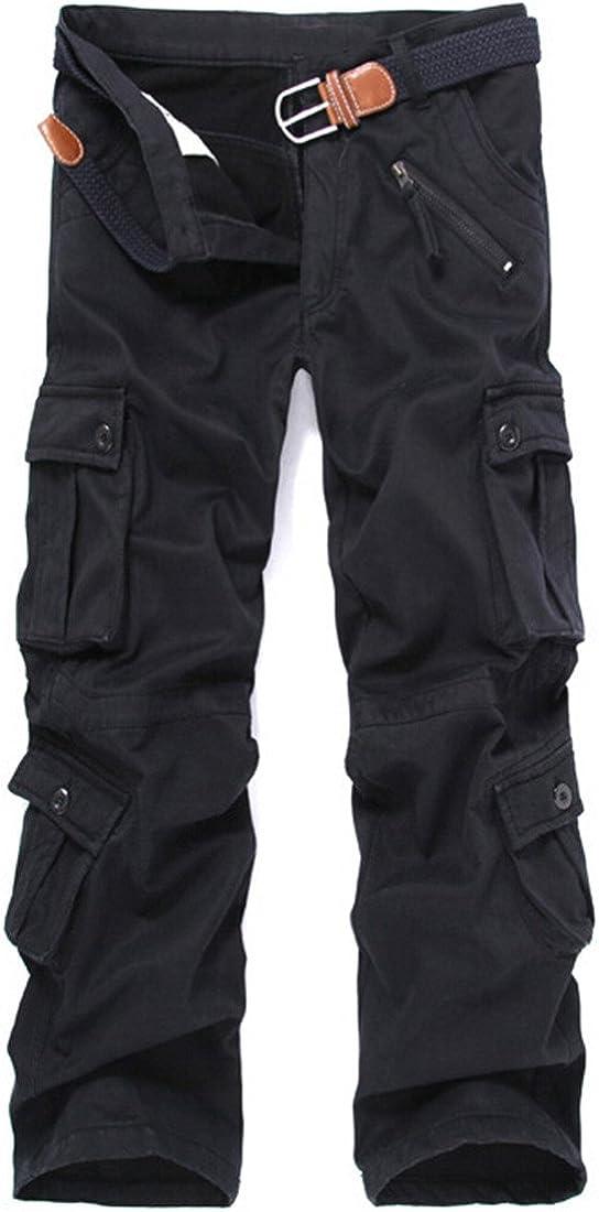 6342503435 Congs Men's Winter Fleece Lined Military Cargo Pants Casual Outdoor Pants 61%2BQI9E8CvL