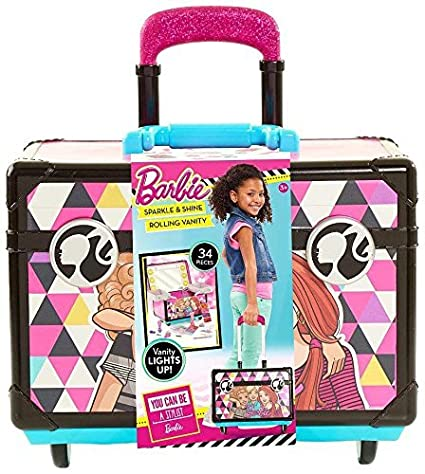 Vanity Suitcase With Lights Adorable Amazon Barbie Rolling Vanity Playset Toys Games
