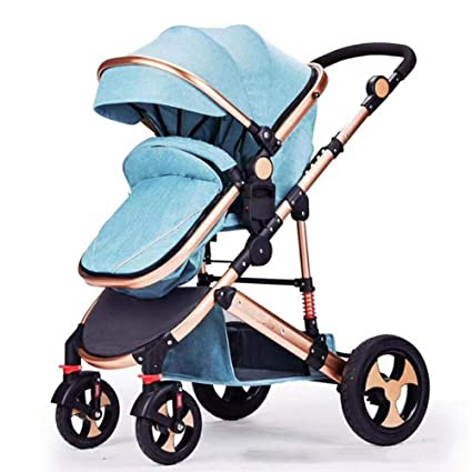 Olydmsky Carro Bebe,Alta Vista del Cochecito de bebé Puede reclinable Plegable Cochecito recién cochecitos