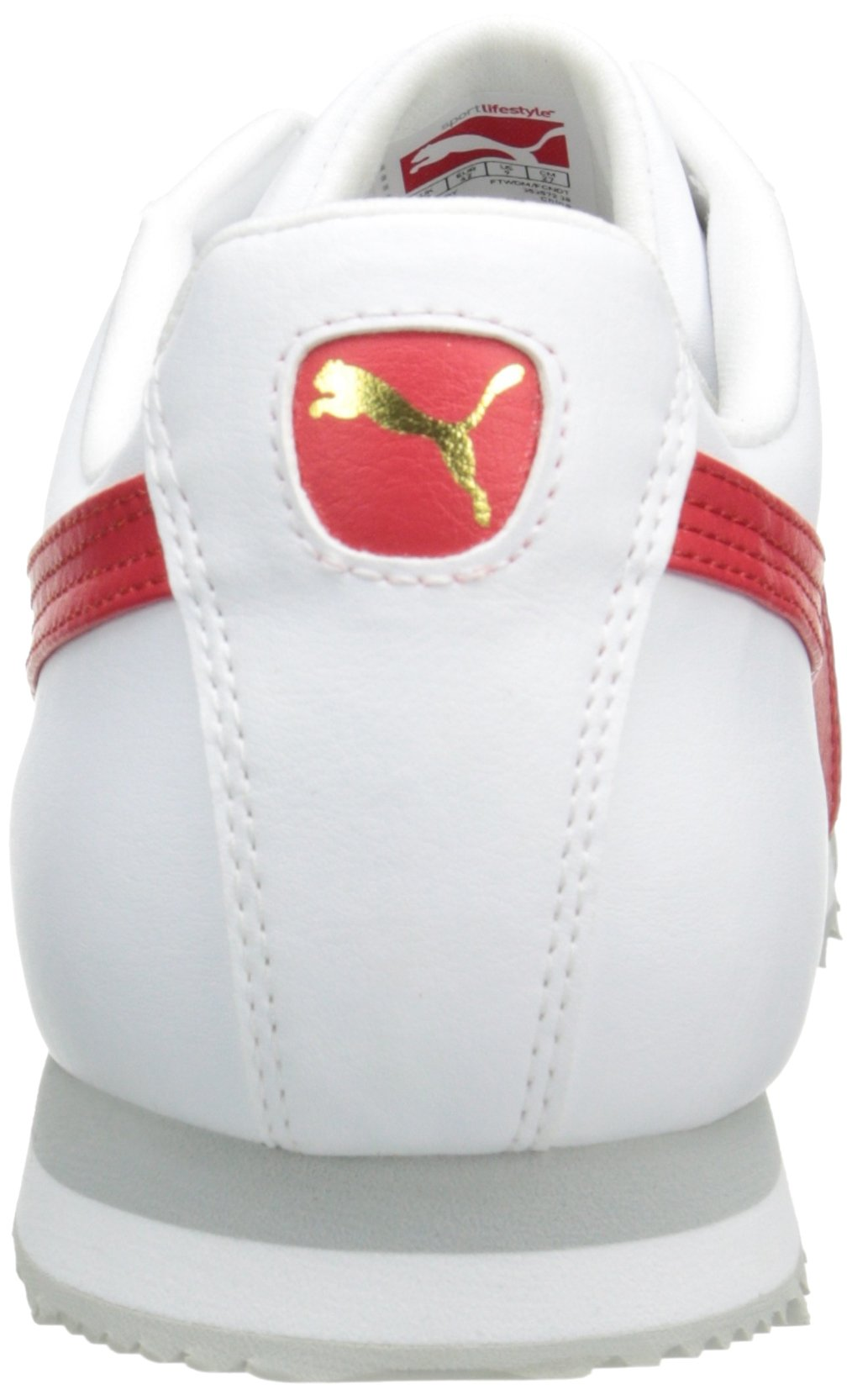 PUMA Men's Roma Basic Fashion Sneaker, White/High Risk Red/White - 9 D(M) US by PUMA (Image #2)