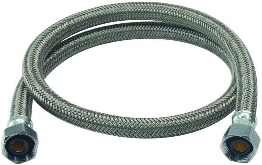 Seleq Braided Stainless Steel Faucet Supply Line 1//2 x 1//2 16 Set of 50