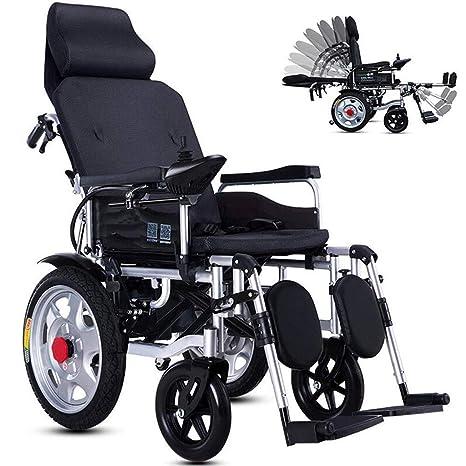 Silla de ruedas eléctrica plegable ligera, sentado y ...