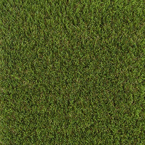 247Floors Calgary 37mm Realistic Artificial Grass Natural Look Lawn Turf 2m 4m Wide (2.5m x 2m / 8ft 2″ x 6ft 6″)