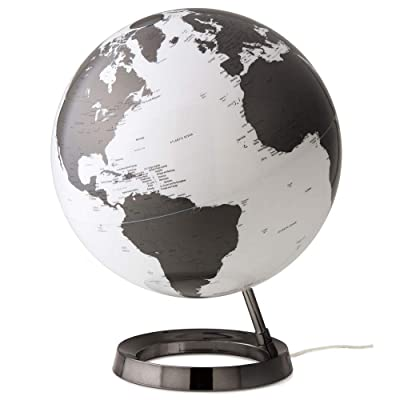 Waypoint Geographic Light & Color Designer Series 12-inch Illuminated Decorative Desktop Globe (Charcoal): Office Products