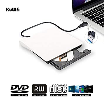 Unidad de Grabador de DVD Externo, Unidad Externa USB 3.0, DVD-ROM,