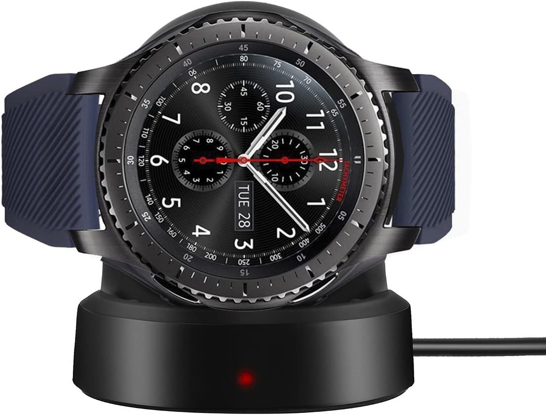 BeneStellar Qi Charging Dock for Samsung Gear S3 Classic//Frontier Smartwatch Black Samsung Gear S3 Charger