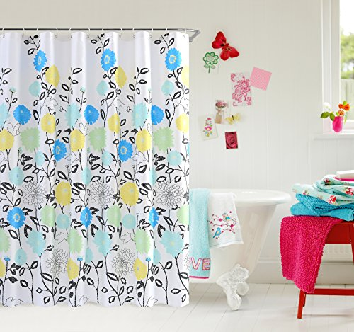 Shower Curtain Wimaha Water Repellent White