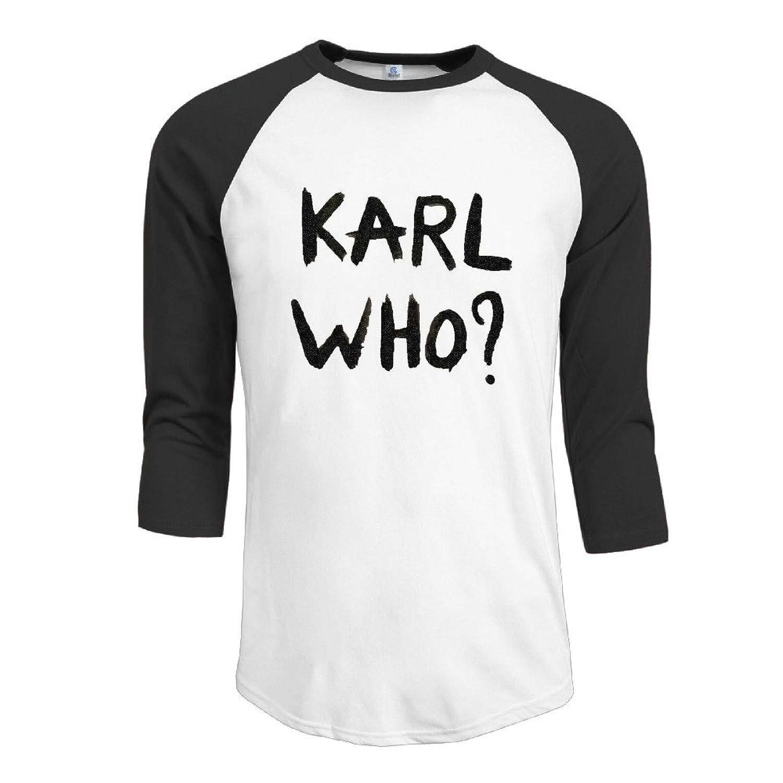Z-Jane KARL WHO Men Round Collar Raglan Tshirt Black