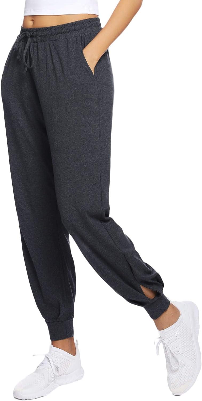 Hawiton Pantalones Deportivos para Mujer Algodón Pantalones de Pijama Largos Invierno Pantalón de Chándal para Gimnasio Deportes Correr Entrenamiento Jogging