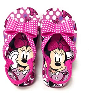 Disney Authentic Minnie Mouse Cute Flip Flops Girls Sandals Size 9//10 11//12 13//1