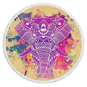 Toalla De Playa Redondo,Toalla De Playa De Microfibra Tapiz Hippie Redondo,Manta De Toallas De Baño De Playa Boho,Mantel… | DeHippies.com