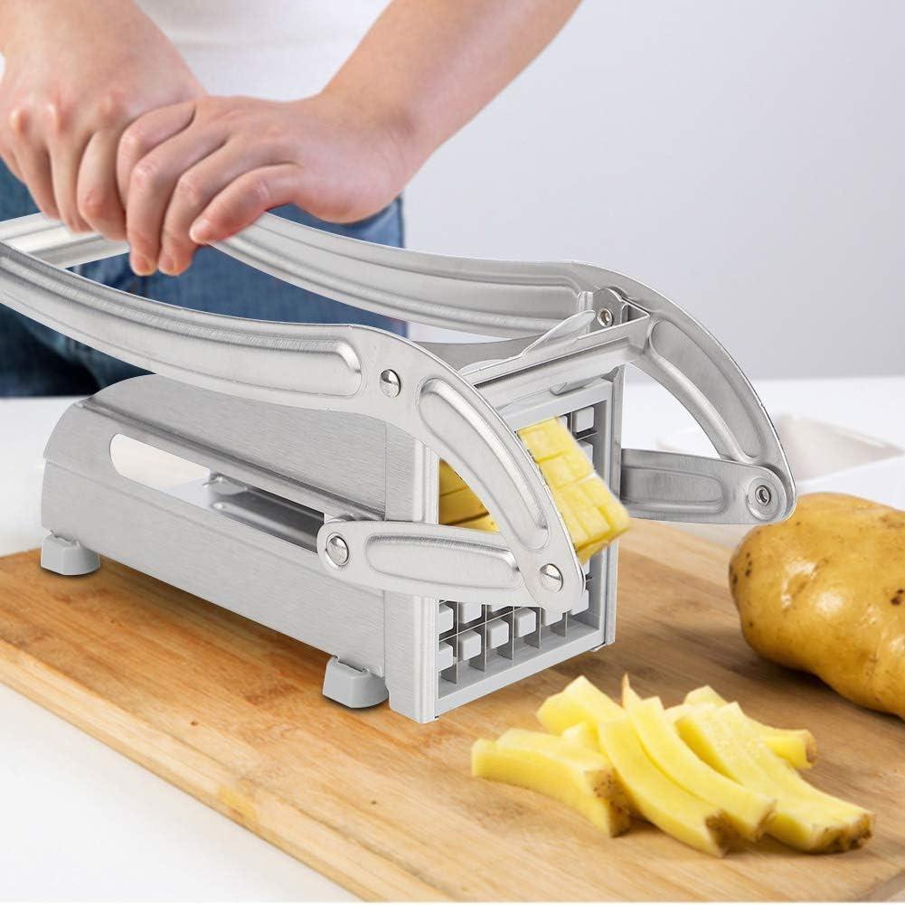 Cortadora de patatas para verduras cortadora de patatas fritas rallador de acero inoxidable para cebollas zanahorias con pies antideslizantes