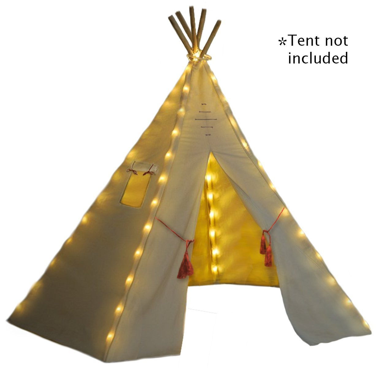 Fairy Lights for Teepee Tents - Battery Operated. Set of 75 Bright Yellow LED ...  sc 1 st  eBay & Fairy Lights for Teepee Tents Battery Operated Set of 75 Bright ...