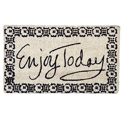tag - Enjoy Today Coir Mat, Decorative All-Season Mat for the Front Porch, Patio or Entryway, Black (Today Patio)