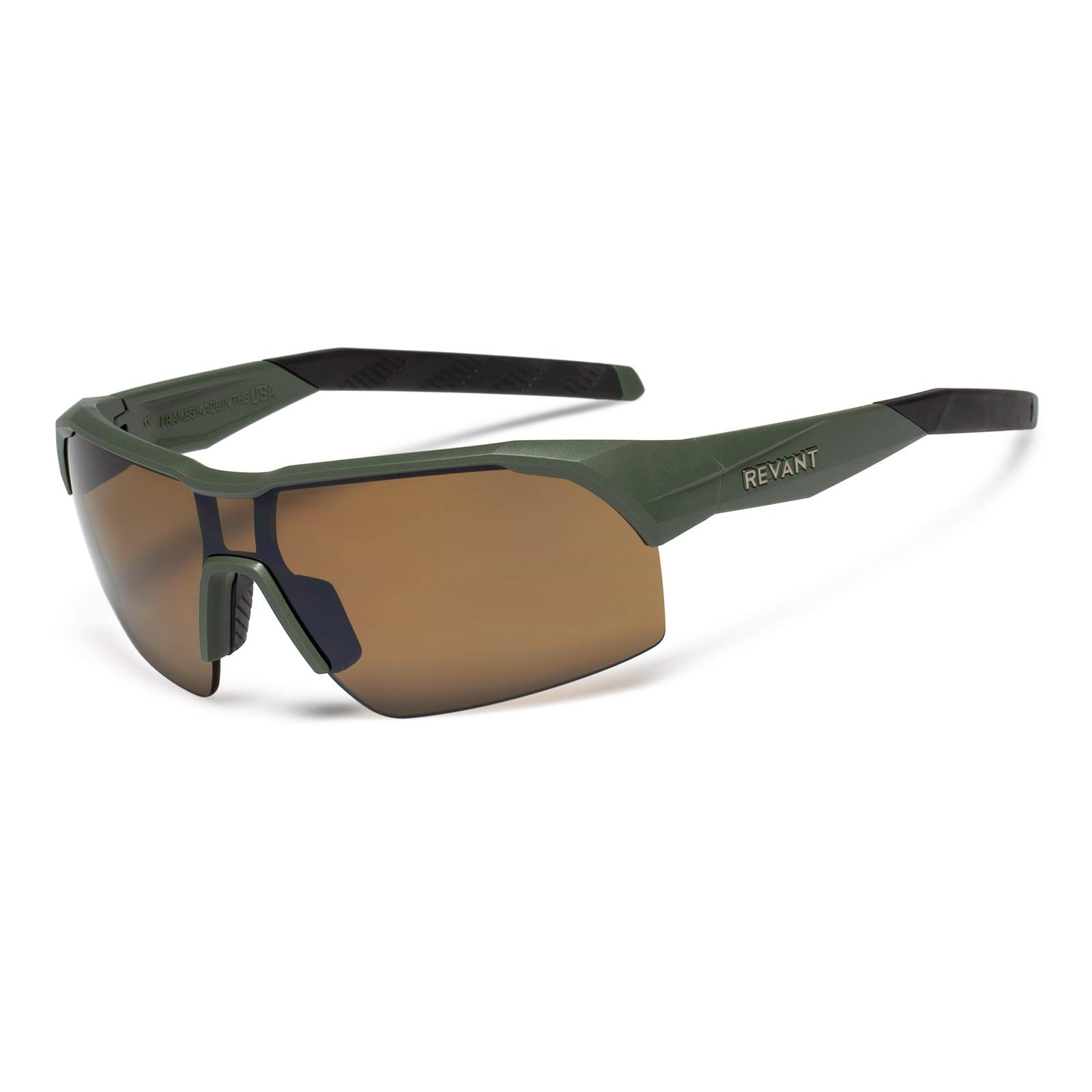 Revant S2L Sunglasses Polarized Sports Sunglasses - Ultralight Durable Matte Rugged Green Frame - for Men & Women by Revant