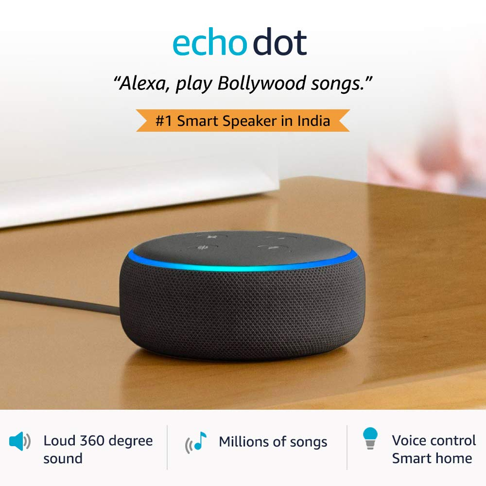 Echo Dot (3rd Gen) – Smart speaker with Alexa (Black)