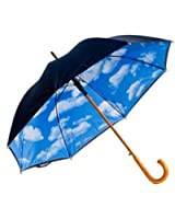 Designer Umbrella with Perfect Day Sky Print Inside