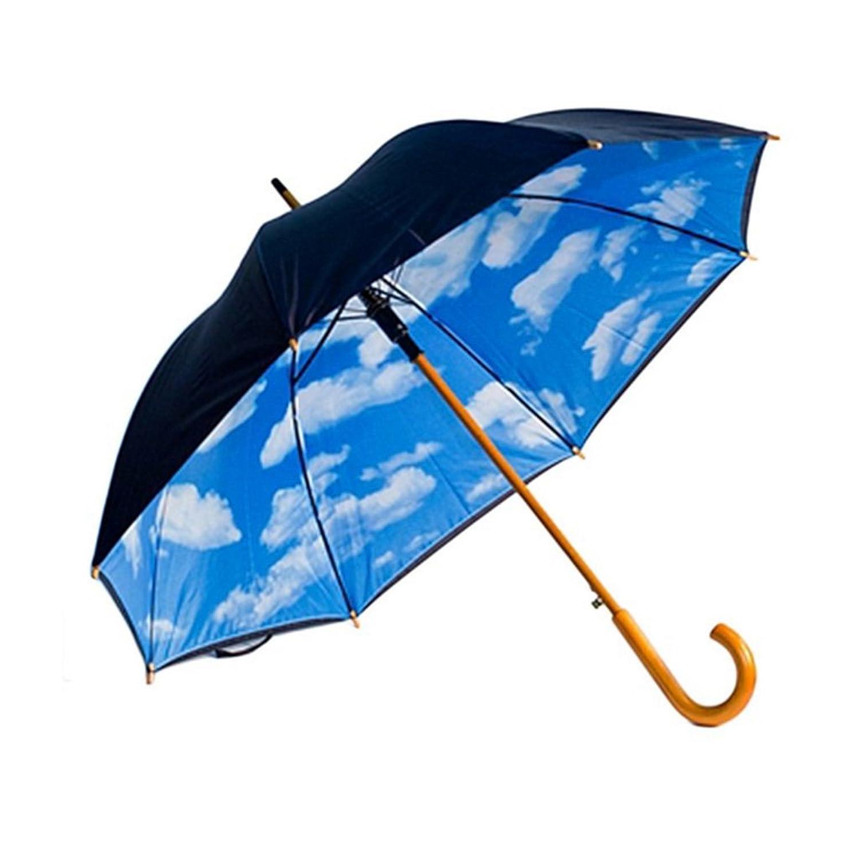 designer umbrella with perfect day sky print inside amazon co uk