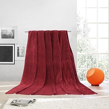 78d955a1d4 Amazon.com  LANGRIA Reversible Fleece Soft Warm Sofa Bed Throw ...