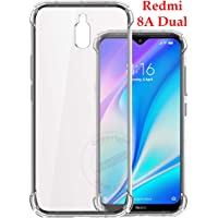 Jkobi for Redmi 8A Dual Silicon Flexible Shockproof Corner TPU Back Case Cover -Transparent