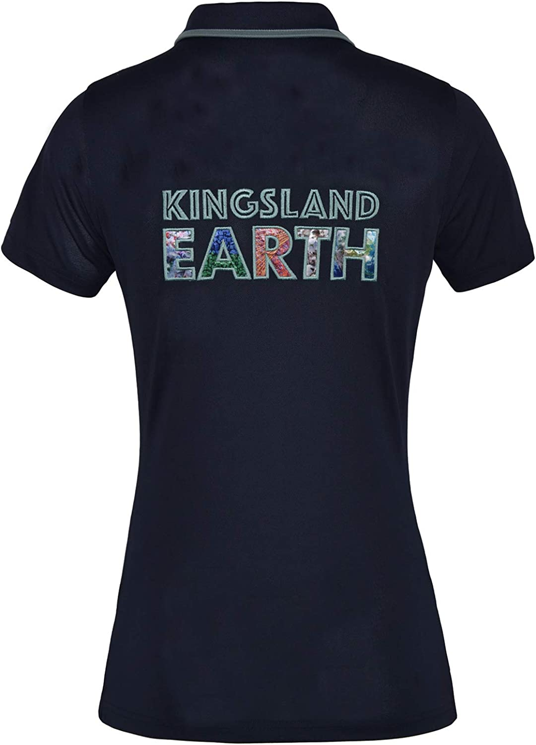 Kingsland Equestrian Earth Star Recycled Pique Womens Top Navy