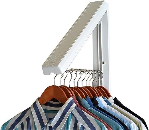 En acier inoxydable sur la porte Rail Hanger Bar Vêtements Rod économiseur d/'espace de stockage