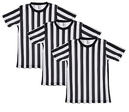 0acbf9b98a7 Mato   Hash Children s Referee Shirt Ref Costume Toddlers Kids Teens - 3PK  Black White