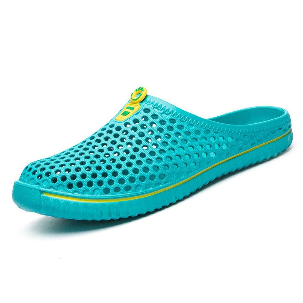 Respctful✿Unisex Garden Clogs Shoes Women's Men's Casual Slip On Shoes Breathable Mule Sandals Water Slippers Footwear Mint Green