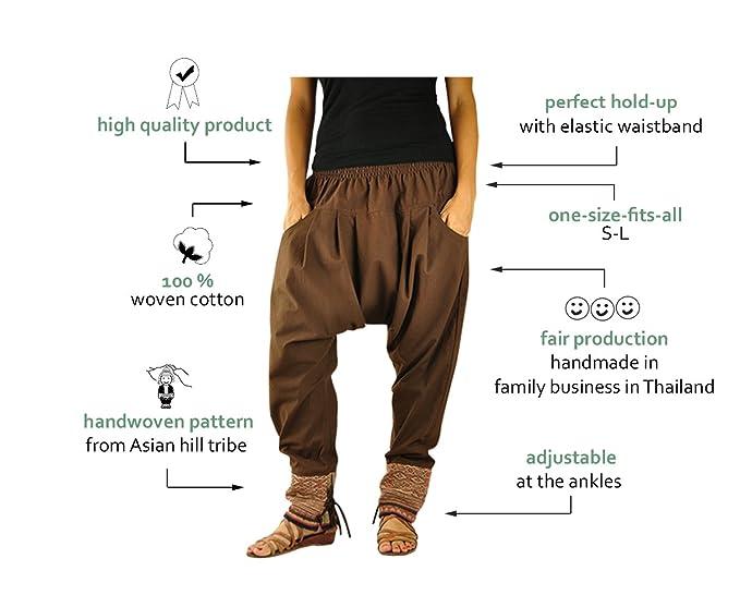 Talla única ropa hippie para hombres y mujeres, pantalones bombachos ...