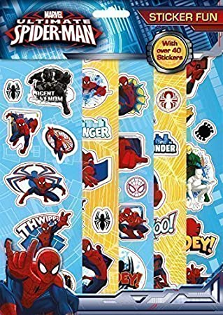 Spiderman Stickers Fun Party Bag Loot Bag Fillers 10 Sheets Of Stickers