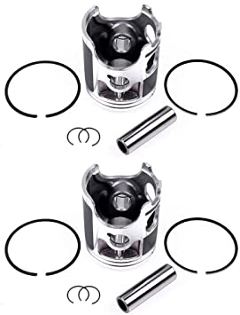 ECCPP New Cylinder Piston Ring for 1987-2006 Yamaha Banshee 350 YFZ350 YFZ350LE Compatible fit for Pistons Kit