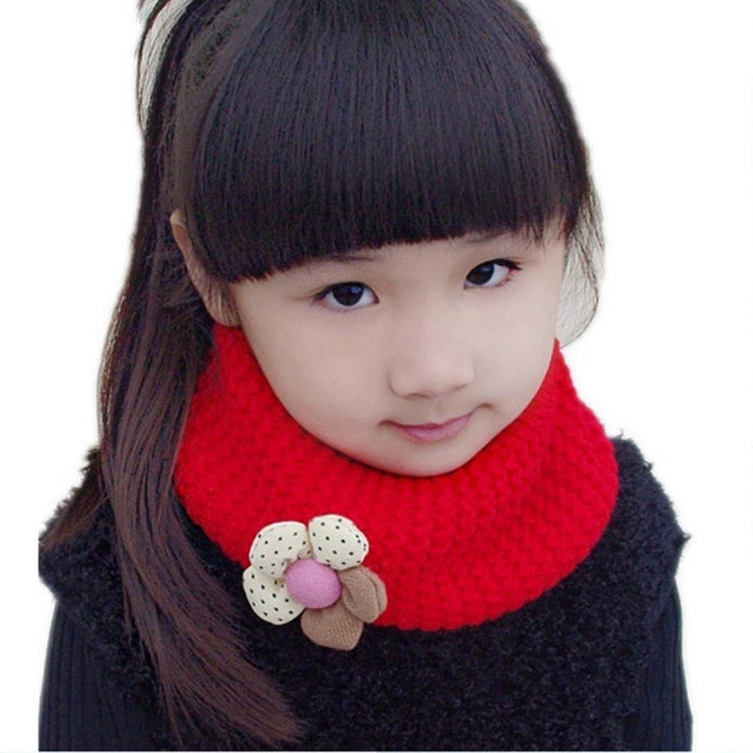 Changeshopping Kids Scarf Winter O-ring Knit Woolen Baby Scarf Neck Warmer