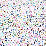 500pcs Size 10mm Acrylic Alphabet Letter Beads for Jewelry Making, Bracelets, Necklaces, Key Chains and Kids Jewelry