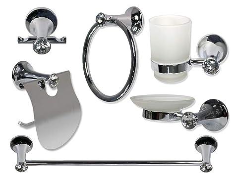 Set Da Bagno Moderno : Vetrineinrete set da bagno moderno acciaio lucido con punti luce