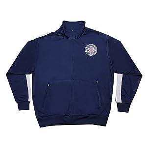 Mens ILLINOIS FIGHTING ILLINI Athletic Zip-Up Track Jacket L Dark Blue
