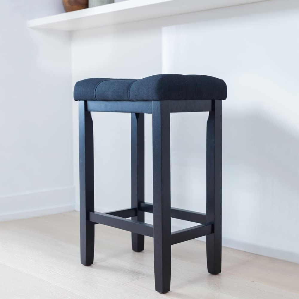Wood Kitchen Counter Bar Stool ...  sc 1 st  Amazon.com : round wooden bar stools - islam-shia.org